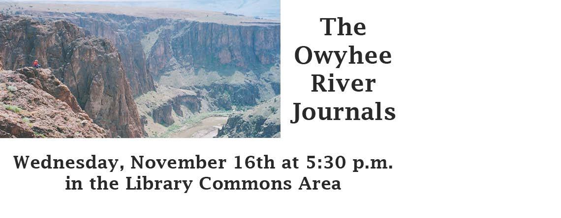 OWYHEE RIVER JOURNALS